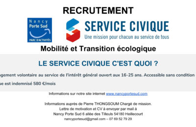 Recrutement service civique 2020